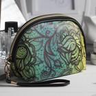 Косметичка-сумочка «Ажур», отдел на молнии, с ручкой, цвет зелёный
