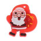 """Значок световой """"Дед Мороз"""" с подарками"""