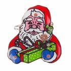 """Значок световой """"Дед Мороз"""" с подарком"""