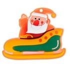 """Значок световой """"Дед Мороз"""" в санях"""
