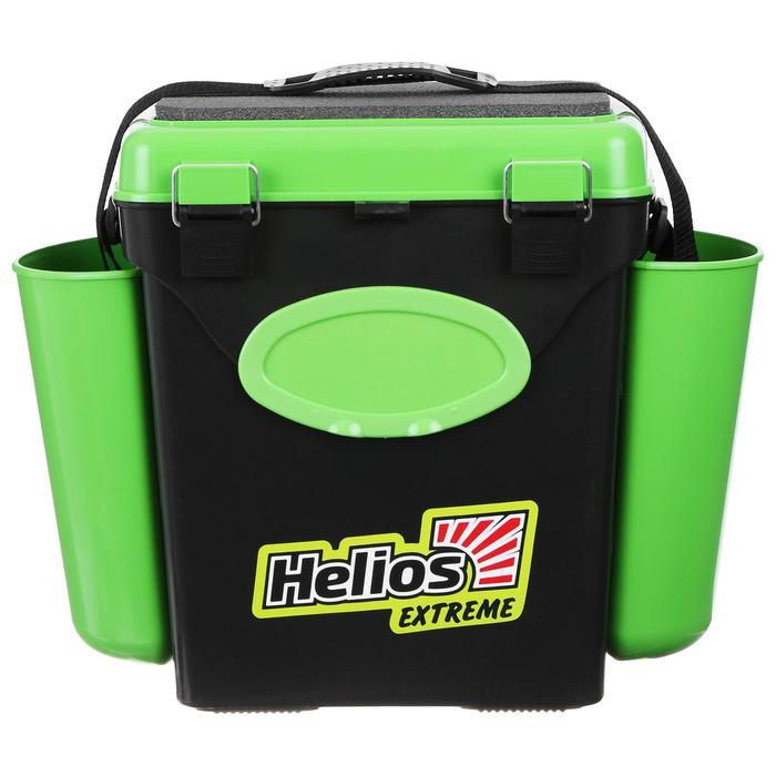 Ящик зимний Helios FishBox 10 л, односекционный, цвет зелёный
