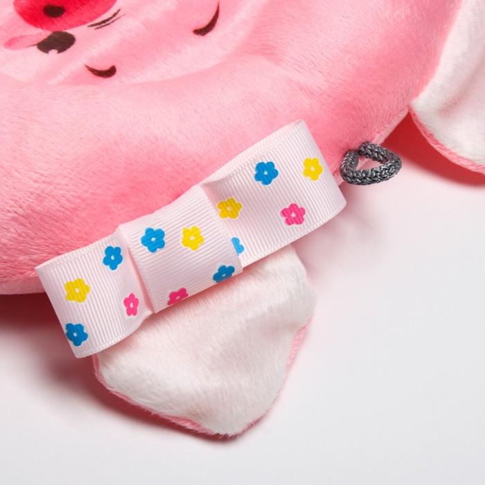 Подушка дорожная детская «Свинка» ортопедическая, цвет розовый