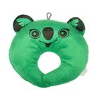 Подушка дорожная детская «Коала» для шеи, цвет зелёный
