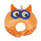 Подушка дорожная детская «Сова» для шеи, цвет оранжевый