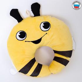 Подушка дорожная детская «Пчёлка» для шеи, цвет жёлтый