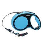 Рулетка Flexi New Comfort М (до 25 кг) лента 5 м, черный/синий