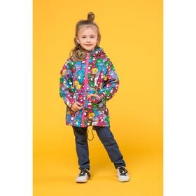 Куртка для девочки, рост 98 см, принт мишки БД0004.1-Д003