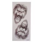 """Татуировка на тело """"Оскал льва"""""""