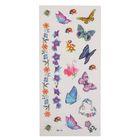 """Татуировка на тело """"Жучки, бабочки, цветы"""""""