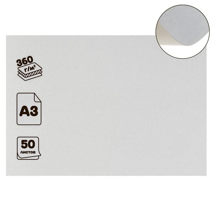 """Картон хром-эрзац немелованный """"Ладога"""", плотность 350г/м2, формат А3"""