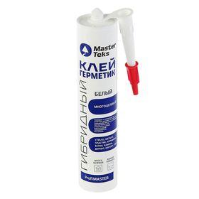 Клей-герметик MasterTeks PM, гибридный многоцелевой, 290 мл, белый