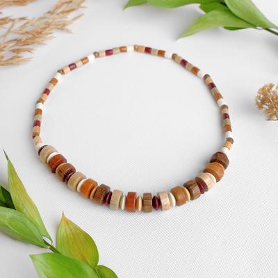 "Beads handmade, wooden ""Fennec"", color dark brown"