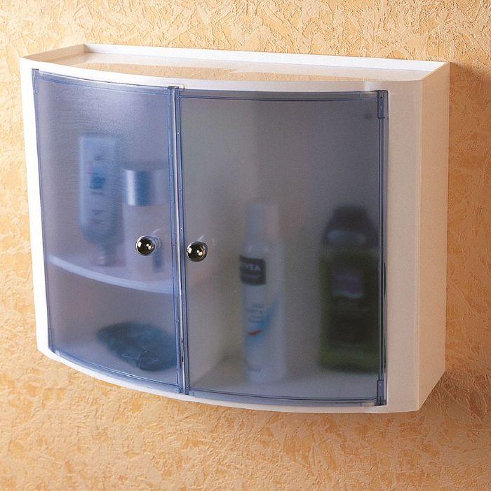 Настенный шкаф, цвет голубой