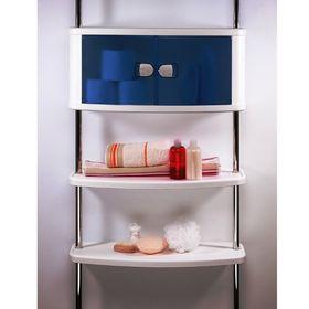 Шкаф настенный с дверцами и 2-мя полками на 2-х штангах 250 см, цвет голубой