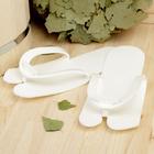 Тапочки-трансформеры для бани и сауны, белые