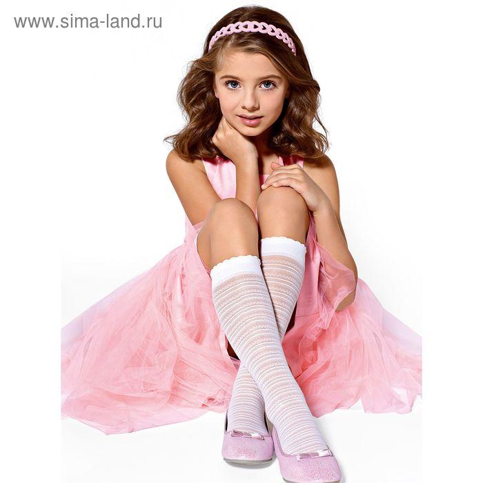 Гольфы для девочек нарядные LINA цвет белый (bianco), р-р 18