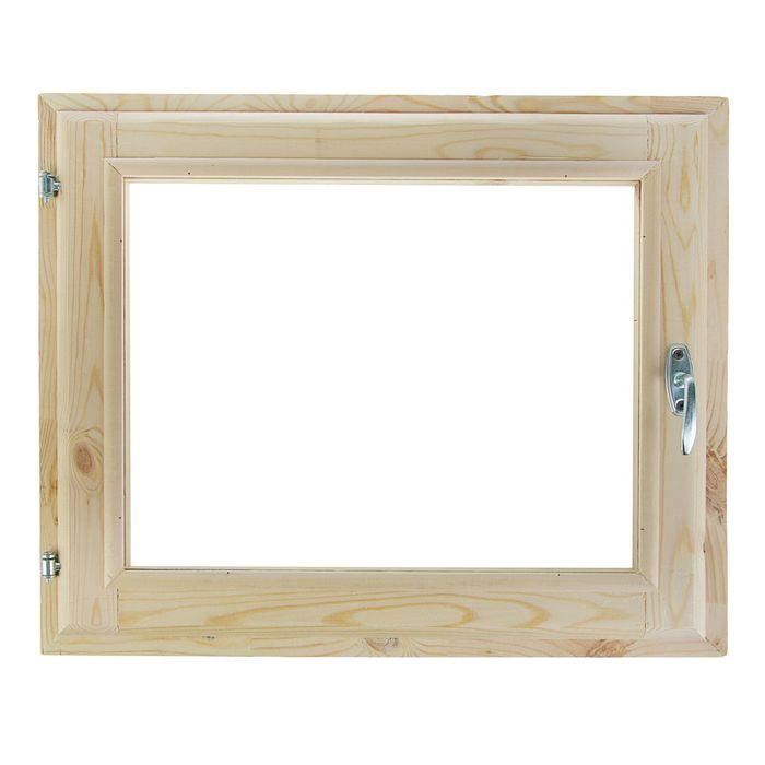 Окно 40х60 см, двойной стеклопакет, хвоя