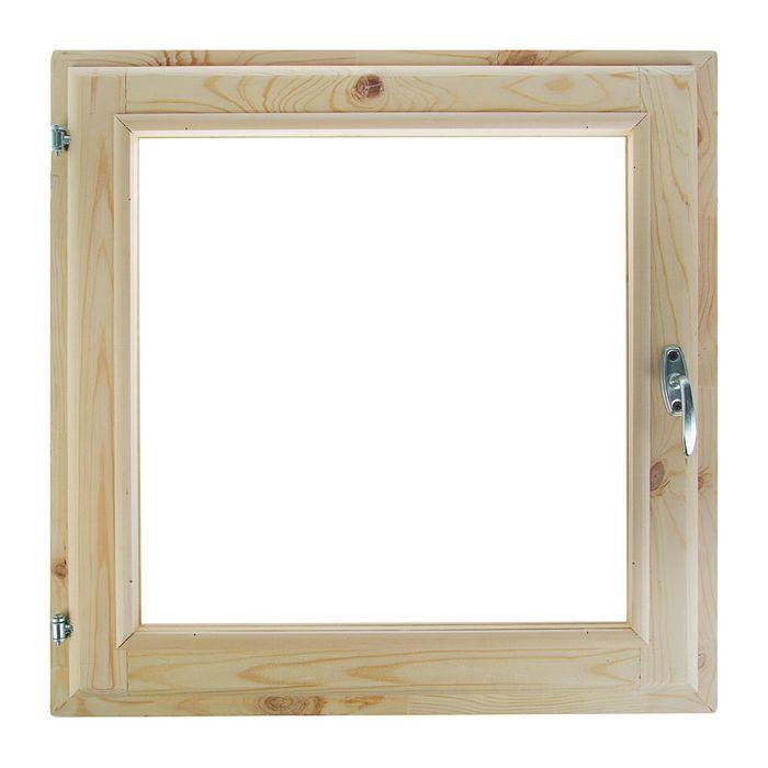 Окно 60х70 см, двойной стеклопакет, хвоя