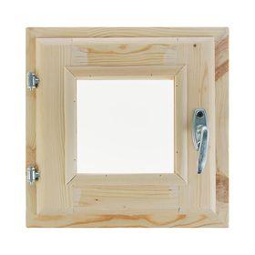 Окно (хвоя) 30х30см, двойное стекло, уплотнитель,