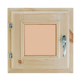 Окно (хвоя) 30х30см, двойное стекло, тонированное , уплотнитель,
