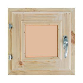 Окно, 30×30см, двойное стекло, тонированное, с уплотнителем, из хвои Ош