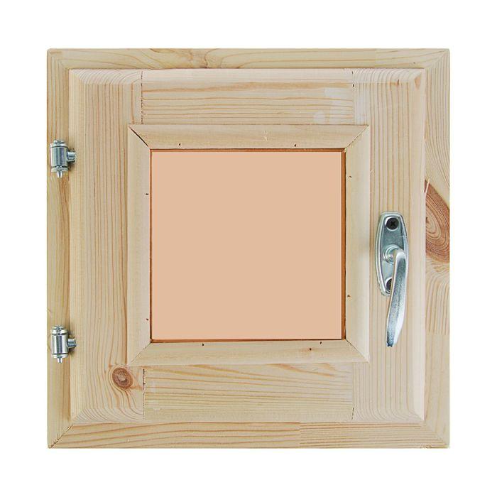 Окно 30х30 см, двойное стекло, уплотнитель, хвоя, тонированное