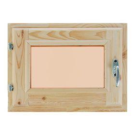 Окно (хвоя) 30х40см, двойное стекло, тонированное, уплотнитель,