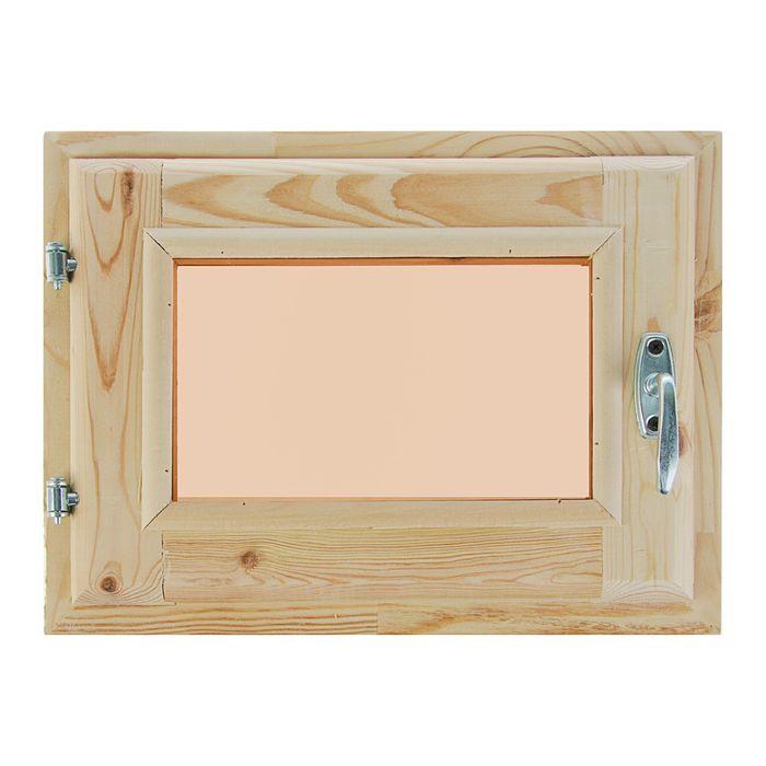 Окно 30х40 см, двойное стекло, уплотнитель, хвоя, тонированное