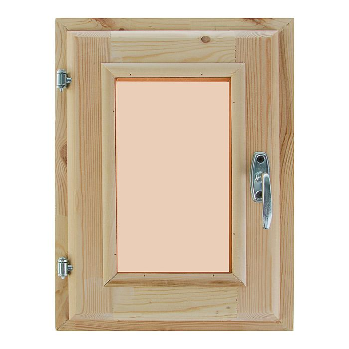 Окно 40х30 см, двойное стекло, уплотнитель, хвоя, тонированное