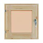 Окно (хвоя) 40х40см, двойное стекло, тонированное, уплотнитель