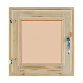 Окно (хвоя) 40х40см, двойное стекло, тонированное, уплотнитель,
