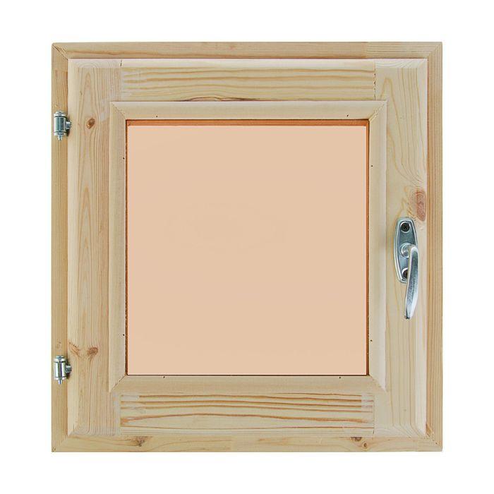 Окно 40х40 см, двойное стекло, уплотнитель, хвоя, тонированное