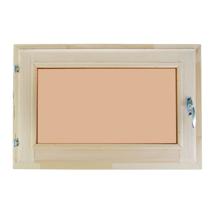 Окно, 40×60см, двойной стеклопакет, тонированное, из липы