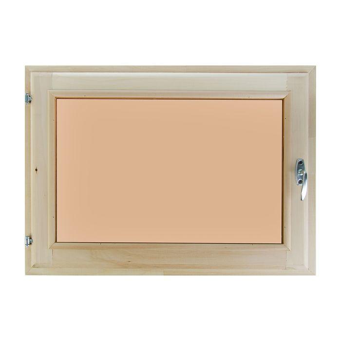 Окно 60х100 см, двойной стеклопакет, тонированное
