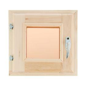 Окно, 30×30см, двойное стекло, тонированное, с уплотнителем, из липы Ош