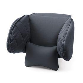 Подголовник Comfort, экокожа, 3D полиэстер, чёрный (COM-0250HR BK/BK)