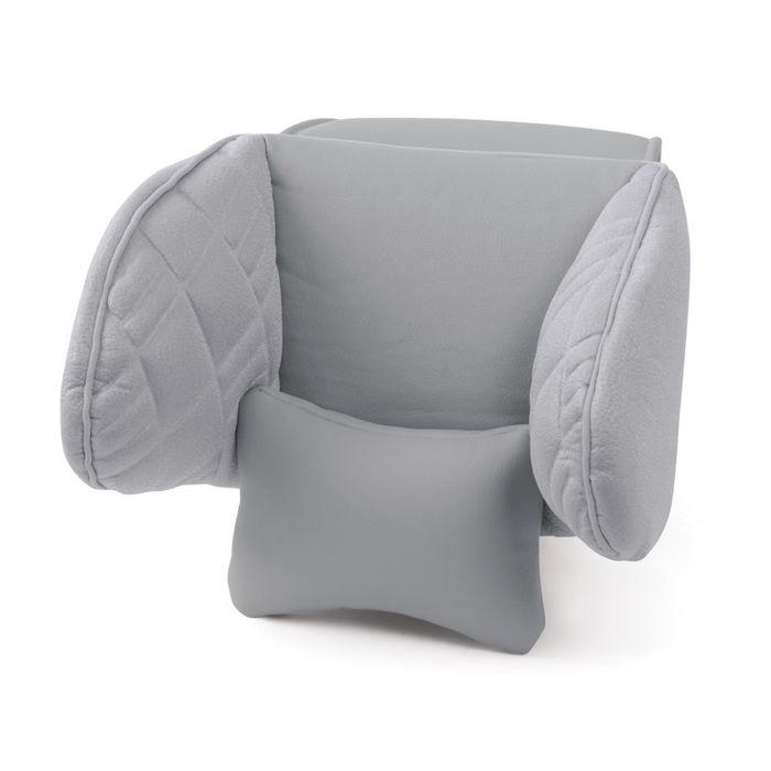 Подголовник Comfort, экокожа, 3D полиэстер, тёмно серый (COM-0250HR)