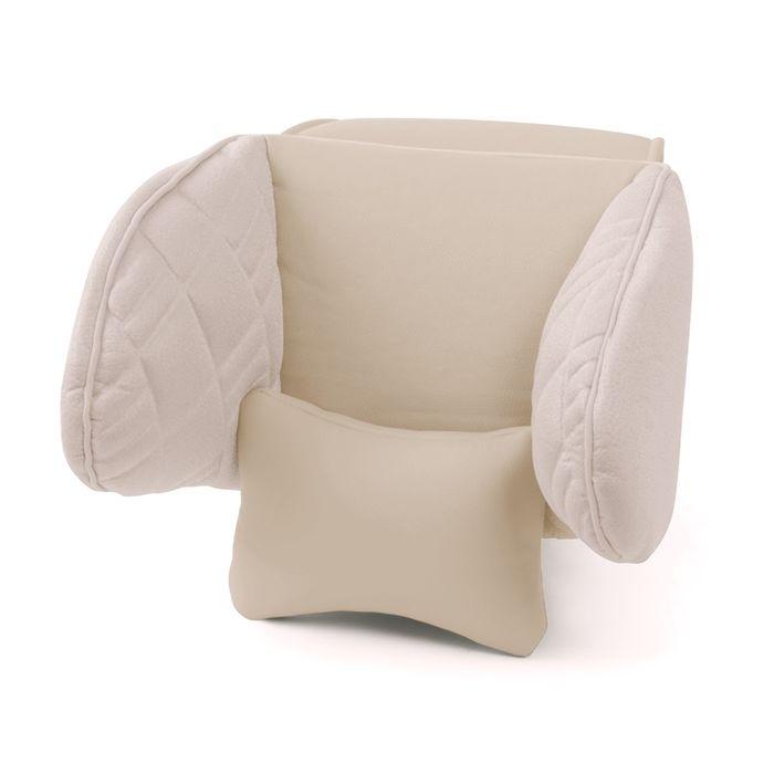 Подголовник Comfort, экокожа, 3D полиэстер, светло бежевый (COM-0250HR)