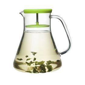 Чайник стеклянный Dancing Leaf, зелёный