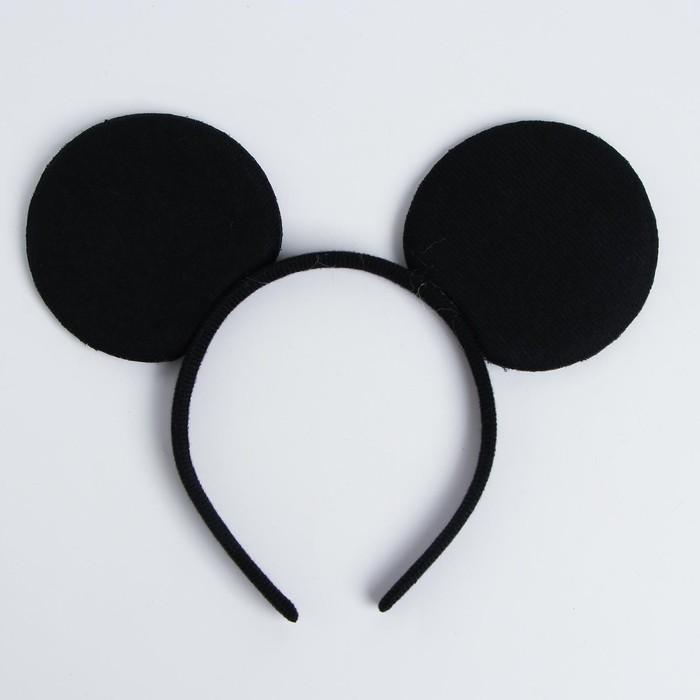 """Carnival headband """"Black mouse"""" ears"""