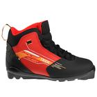 Ботинки лыжные TREK Quest SNS ИК, цвет чёрный, лого красный, размер 35