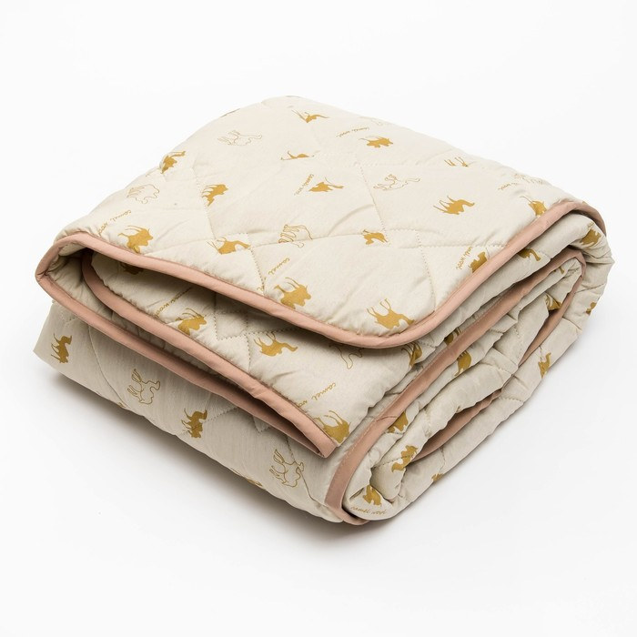 Одеяло 140*205 полиэстер, верблюжья шерсть 300г/м, сумка, МИРОМАКС - фото 62382