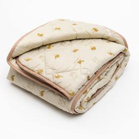 Одеяло 140*205 полиэстер, верблюжья шерсть 300г/м, сумка, МИРОМАКС - фото 62383