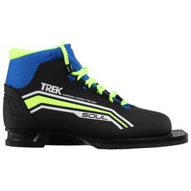 Ski boots TREK Soul NN75 IR, black, lime neon, size 45.