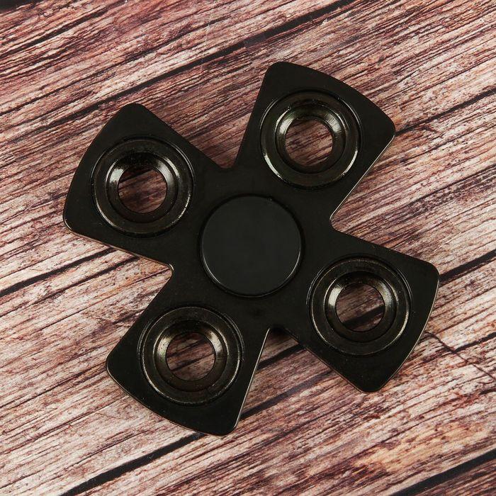 """Спиннер """"X"""" черный, черные вставки 8,5*8,5*1"""