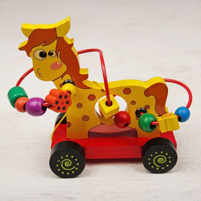"Лабиринт - каталка ""Жёлтая лошадка"""