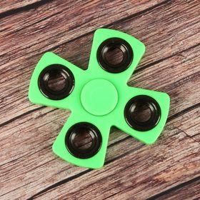 """Спиннер """"X"""" зеленый, черные вставки 8,5*8,5*1"""