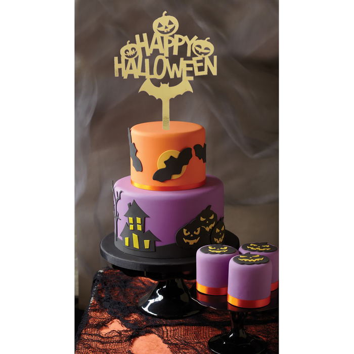 "Топпер в торт ""Happy Halloween"""