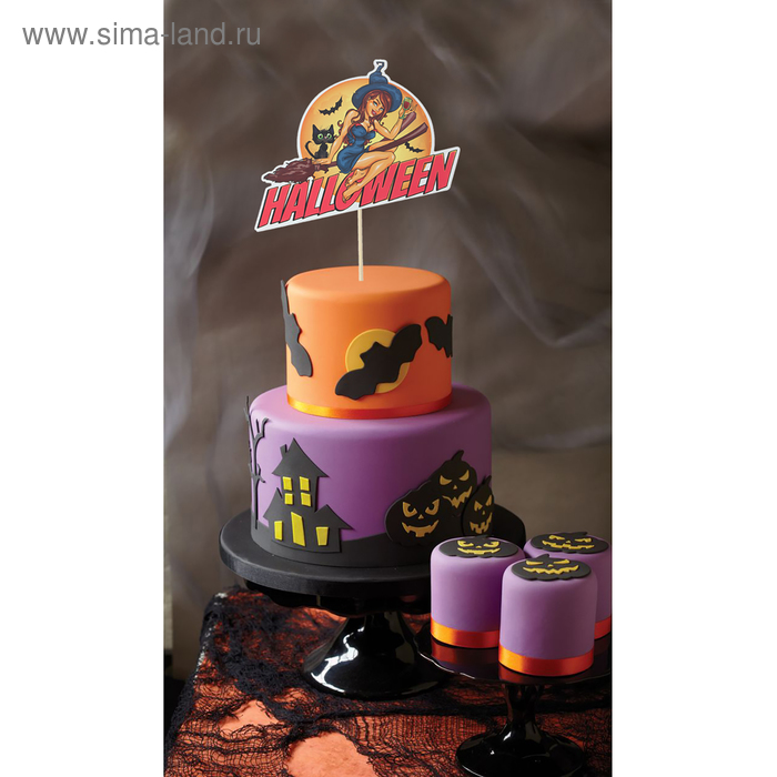 """Topper in cake """"Witch"""""""