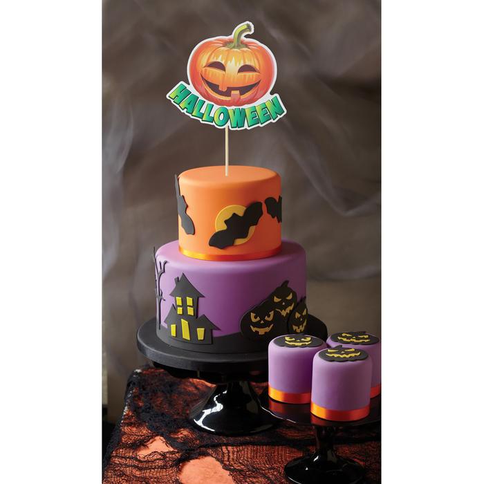 """Топпер в торт """"Хеллоуин""""тыква"""
